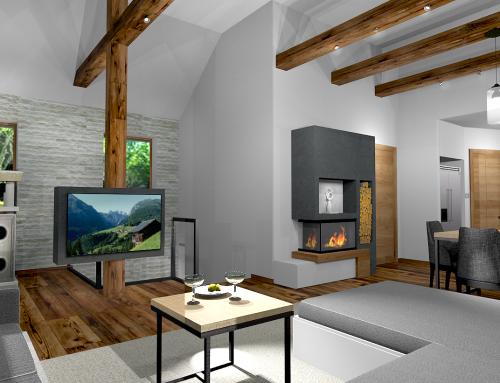 Modern alpesi stílusú ház Sopronban – távtervezés